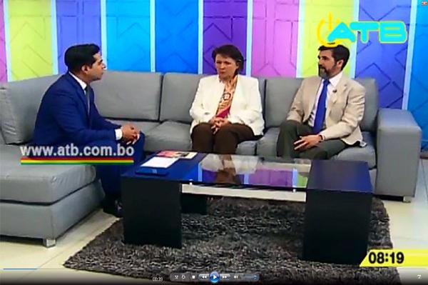 Entrevista en directo en la 1ª Edicion de Noticias del canal ATB TV.