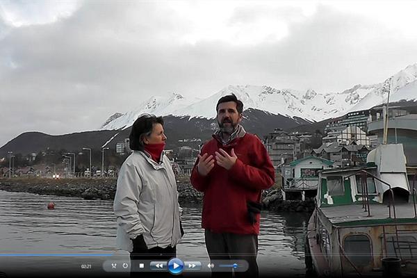 En Ushuaia, Patagonia (Argentina), grabando Sabiduría para Vivir