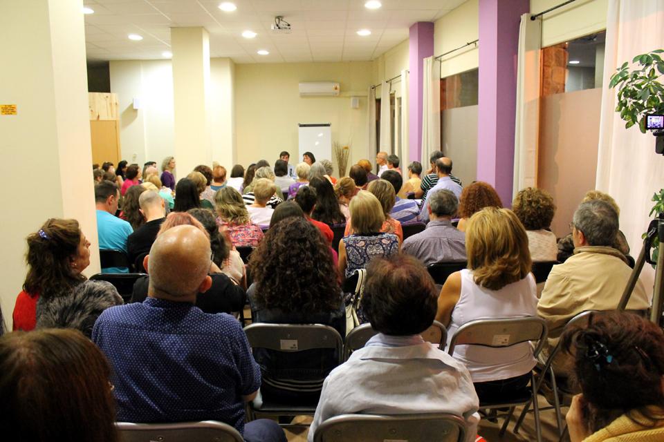 Curso en Ecocentro Madrid, hablando sobre el sentido de la vida, septiembre 2014