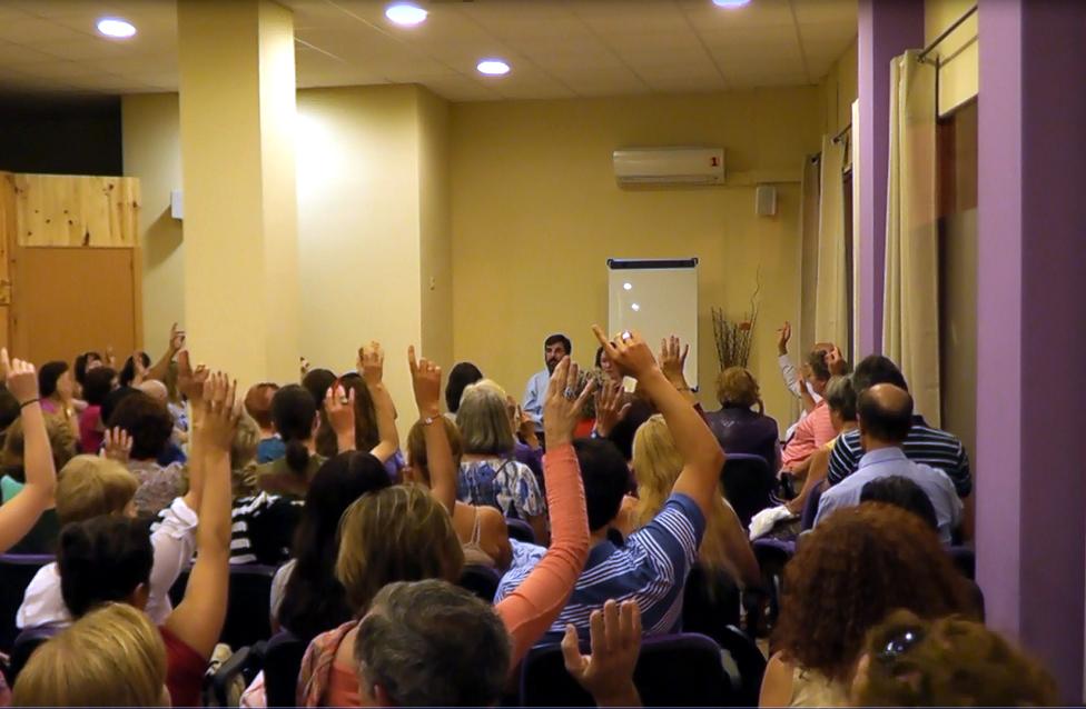 Curso en Ecocentro, hablando sobre cómo resolver los conflictos, Madrid 2014
